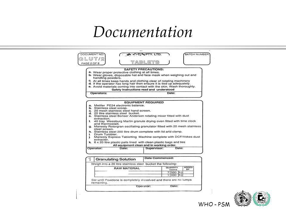 WHO - PSM Documentation
