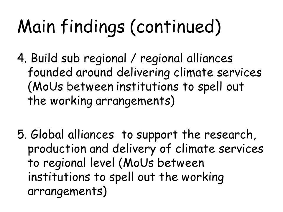 Four Recommendations for EC TT GFCS 1.