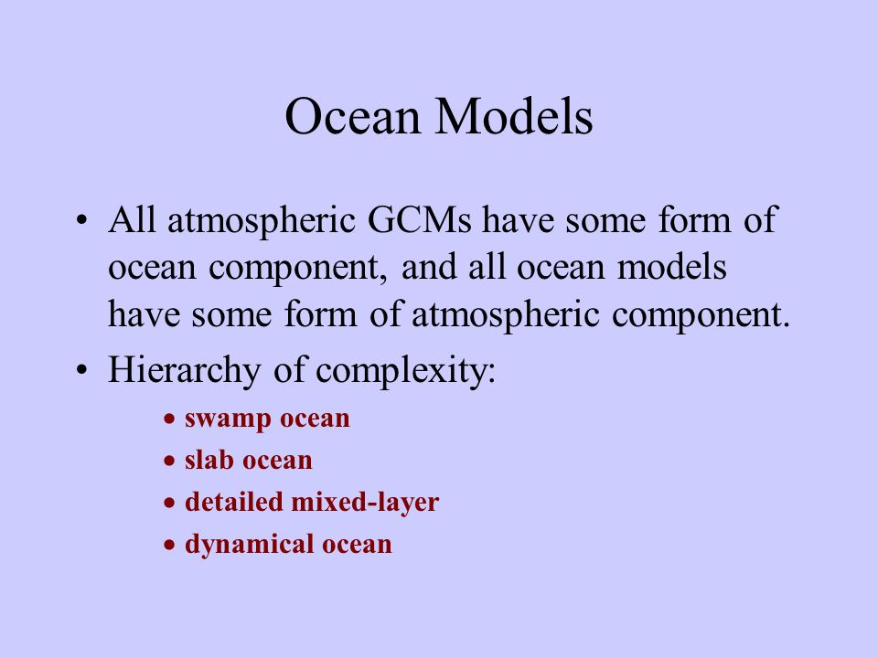 Oceans -- Soil -- Cyosphere -- Biosphere COOLING HEATING Latent Heat Wind Stress RAIN EVAPORATION Sensible Heat REFLECTION EMISSION ABSORPTION TRANSPORT PRESSIONE Radiation Temperature Water Vapor TRANSPORT Solar Radiation Earth Radiation Wind
