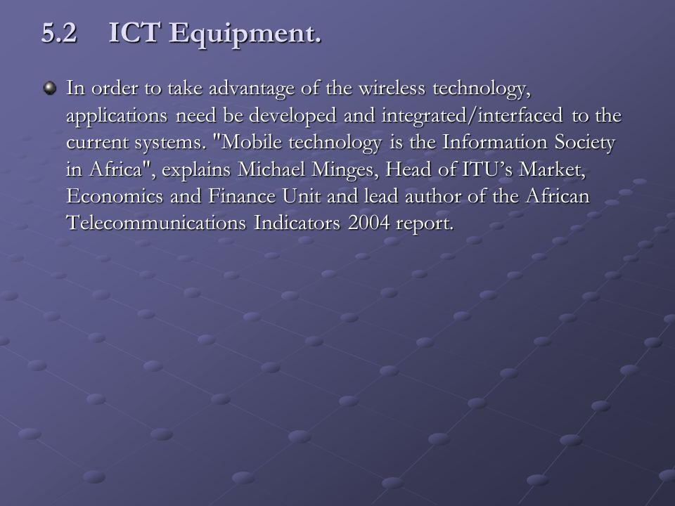 5.2ICT Equipment.