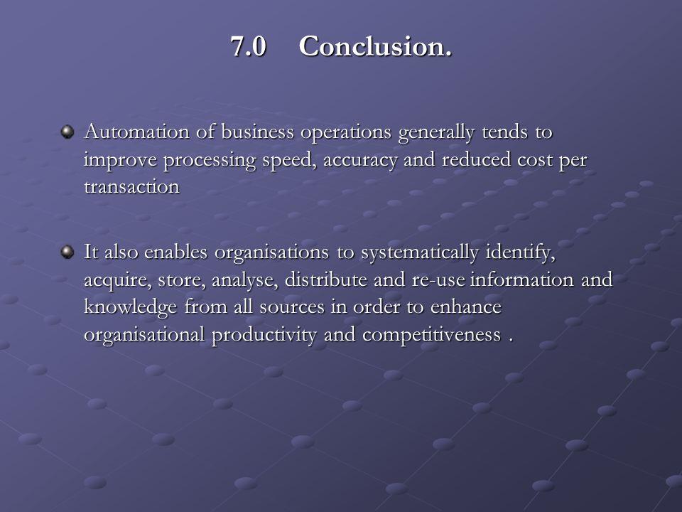 7.0Conclusion.