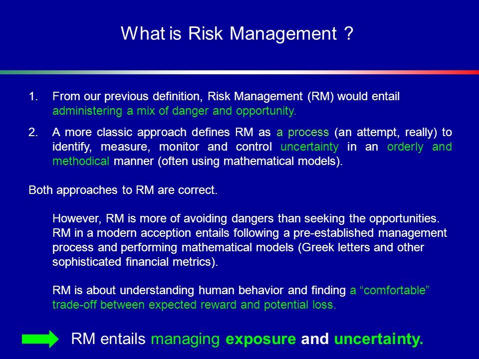 Value at Risk (VaR) 1.Value at Risk (VaR) is metric that summarizes in a single number the portfolios market risk.