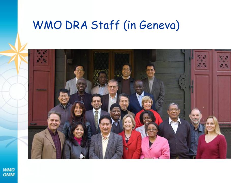 WMO DRA Staff (in Geneva)