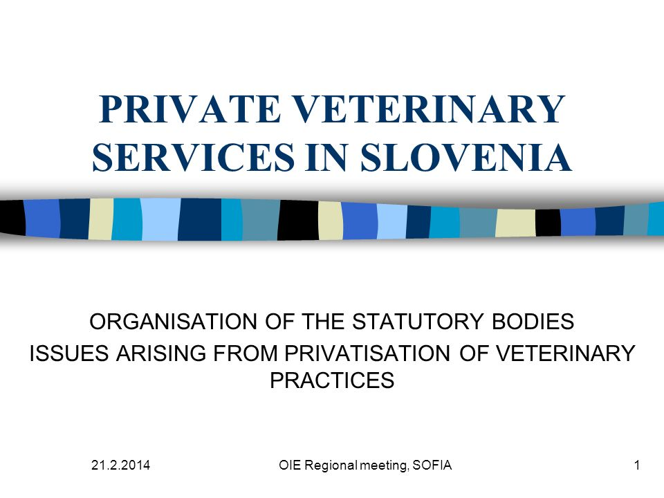 21.2.2014 OIE Regional meeting, SOFIA12 COMMENTS THEORETICALLY EQUAL SYSTEM OF THE ORGANISATION OF VETERINARY SERVICE IN EU AND CEEC, UNNECESSARY SUPPORT OF STATE STRUCTURES DURING REORGANISATION BY BRUSSELS ADMINISTRATION DURING ACSESSION PROCESS, MORE OR LESS MINOR TRADITION AS SELF REGULATED PROFESSION.