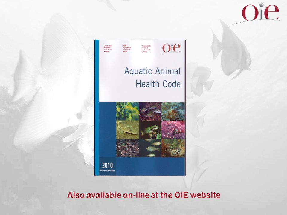 Also available on-line at the OIE website