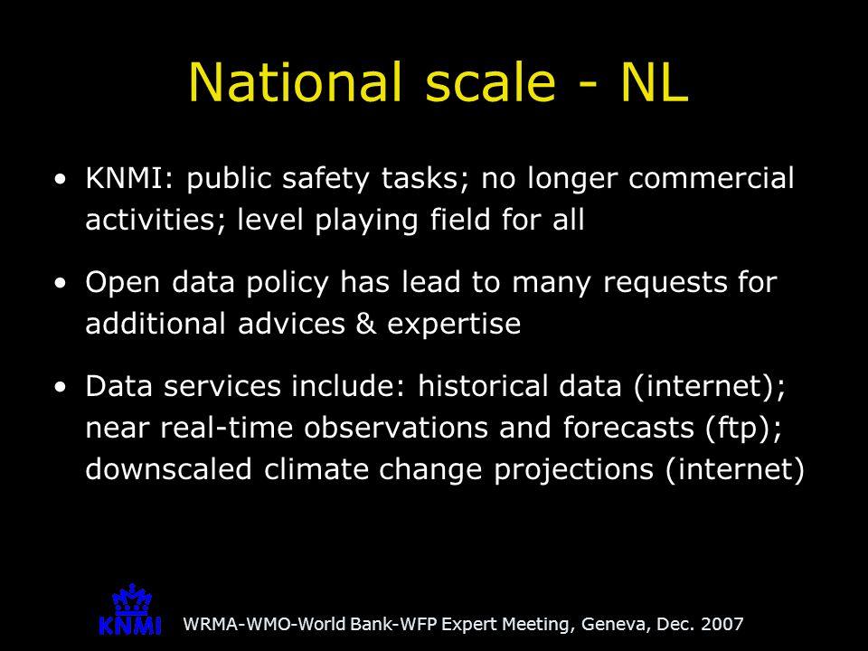 WRMA-WMO-World Bank-WFP Expert Meeting, Geneva, Dec.
