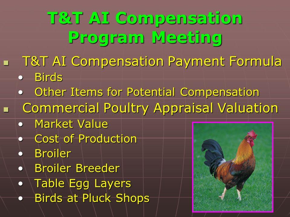 T&T AI Compensation Program Meeting T&T AI Compensation Payment Formula T&T AI Compensation Payment Formula BirdsBirds Other Items for Potential Compe