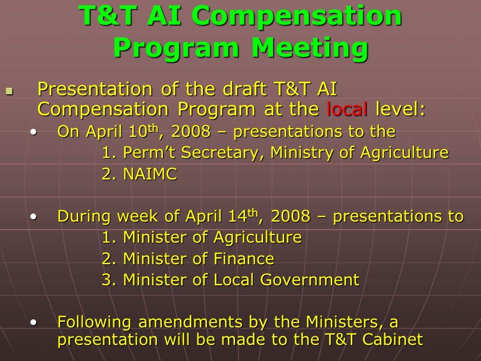 T&T AI Compensation Program Meeting Presentation of the draft T&T AI Compensation Program at the local level: Presentation of the draft T&T AI Compens