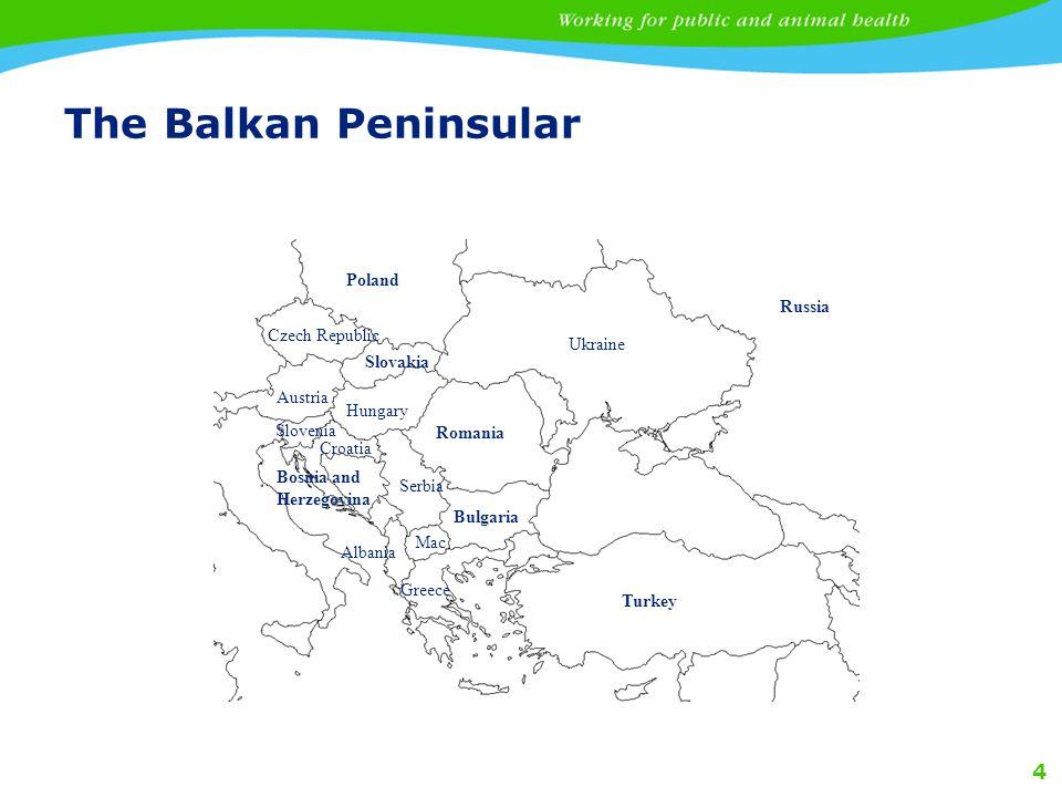 4 The Balkan Peninsular Turkey Bulgaria Romania Bosnia and Herzegovina Ukraine Czech Republic Greece Poland Russia Slovakia Hungary Austria Croatia Slovenia Albania Serbia Mac