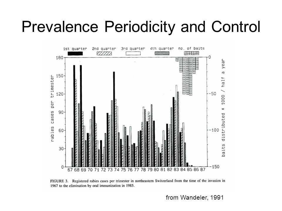 Prevalence Periodicity and Control from Wandeler, 1991