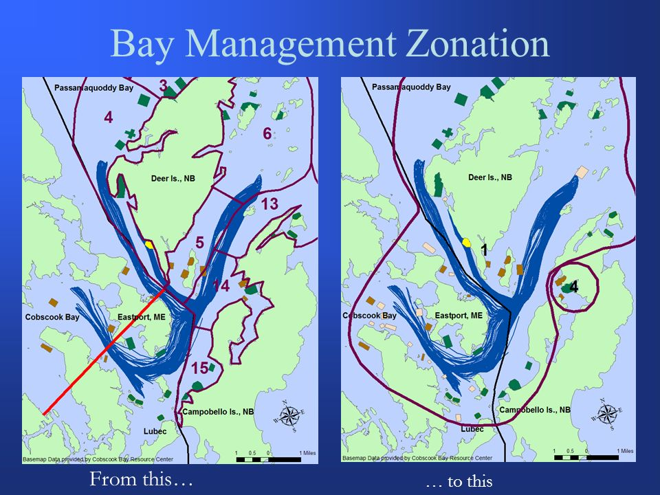 Bay Management Zonation From this… … to this
