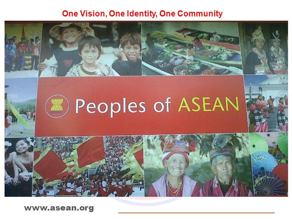 One Vision, One Identity, One Community www.asean.org