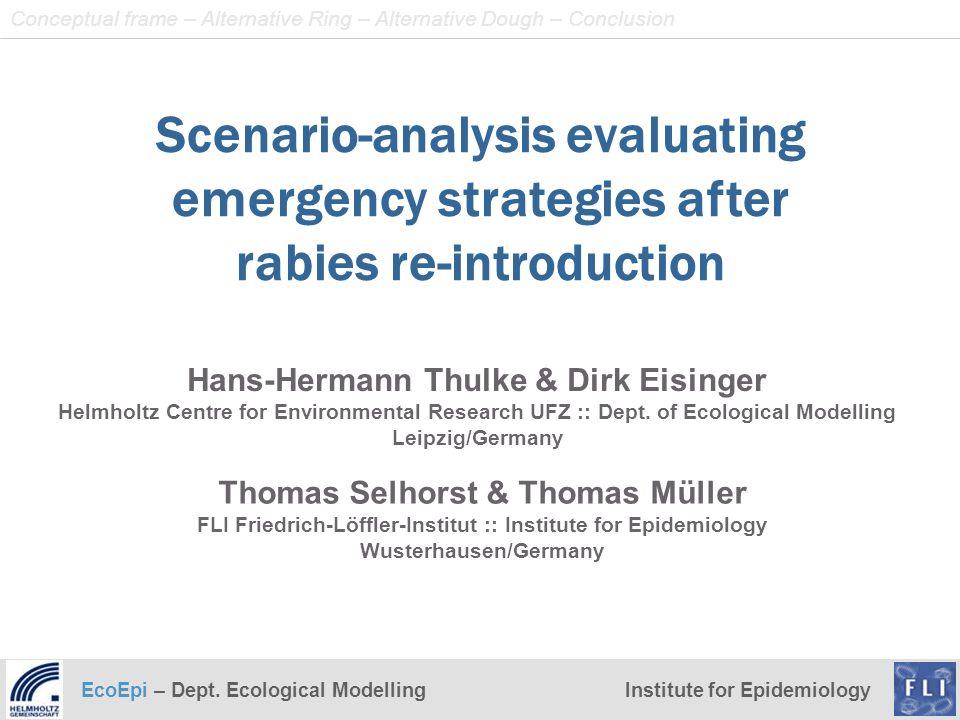 EcoEpi – Dept. Ecological ModellingInstitute for Epidemiology Thomas Selhorst & Thomas Müller FLI Friedrich-Löffler-Institut :: Institute for Epidemio