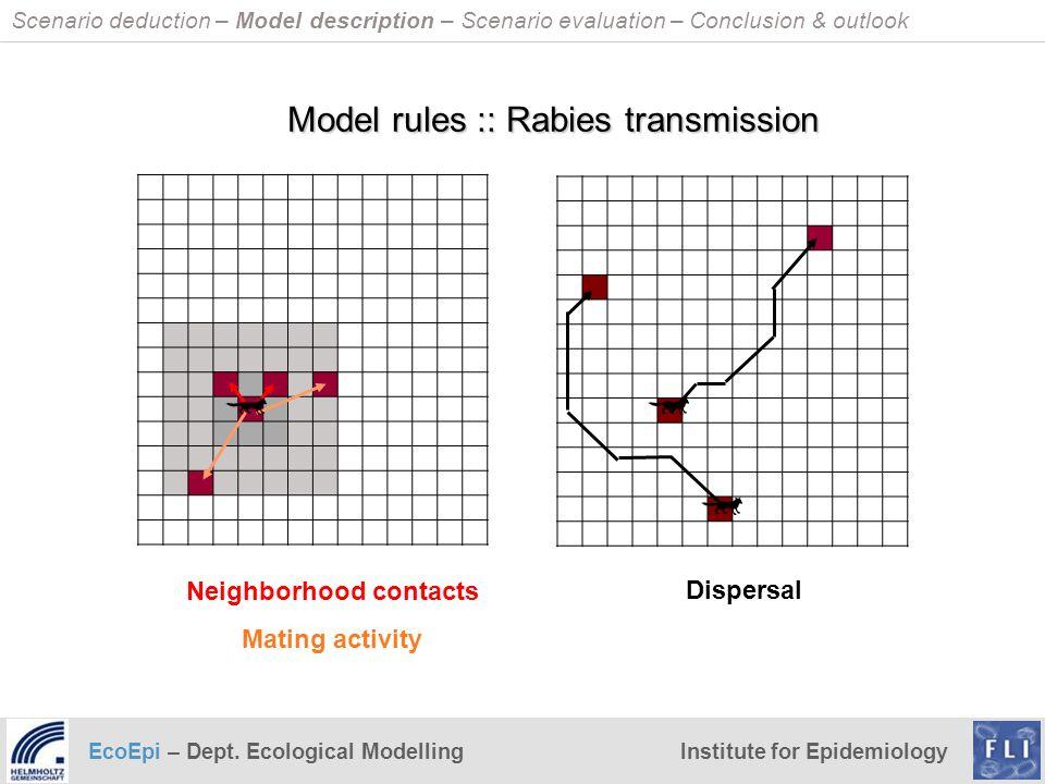 EcoEpi – Dept. Ecological ModellingInstitute for Epidemiology Scenario deduction – Model description – Scenario evaluation – Conclusion & outlook Neig