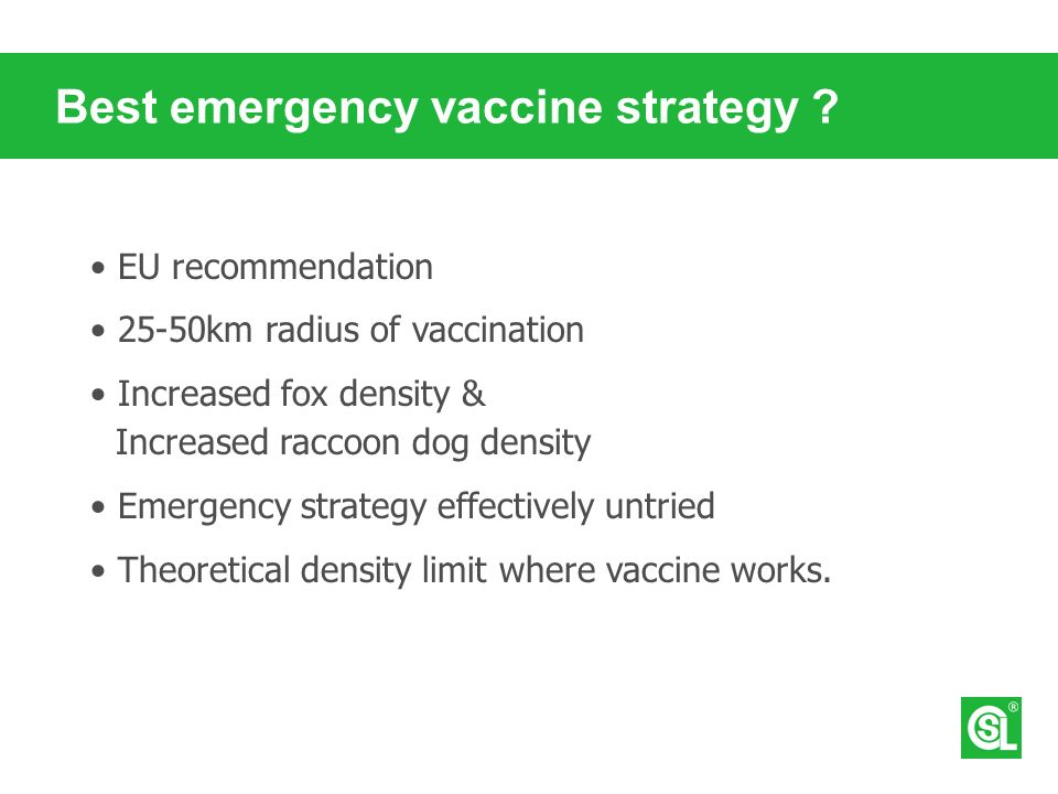 Best emergency vaccine strategy .