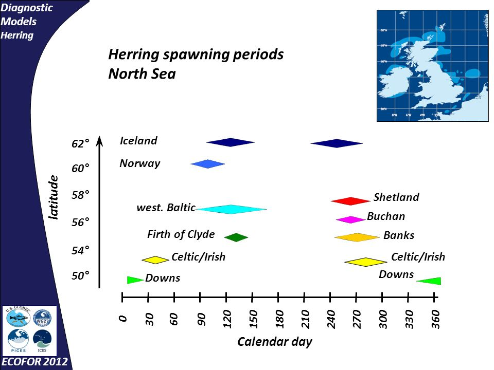 Diagnostic Models Herring ECOFOR 2012 Changes in Experienced Temperatures
