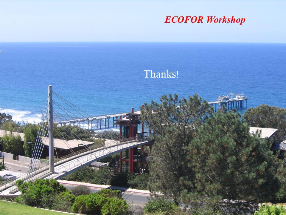 Thanks ! ECOFOR Workshop