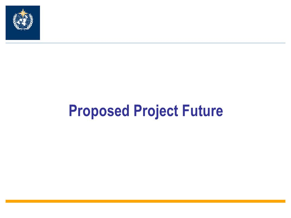 Proposed Project Future
