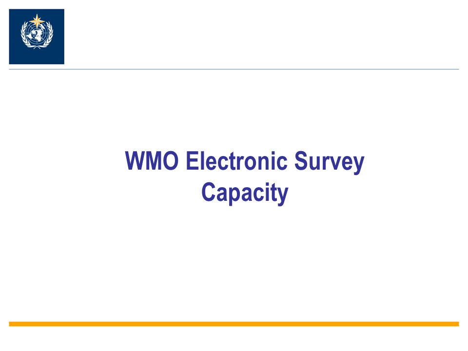 WMO Electronic Survey Capacity