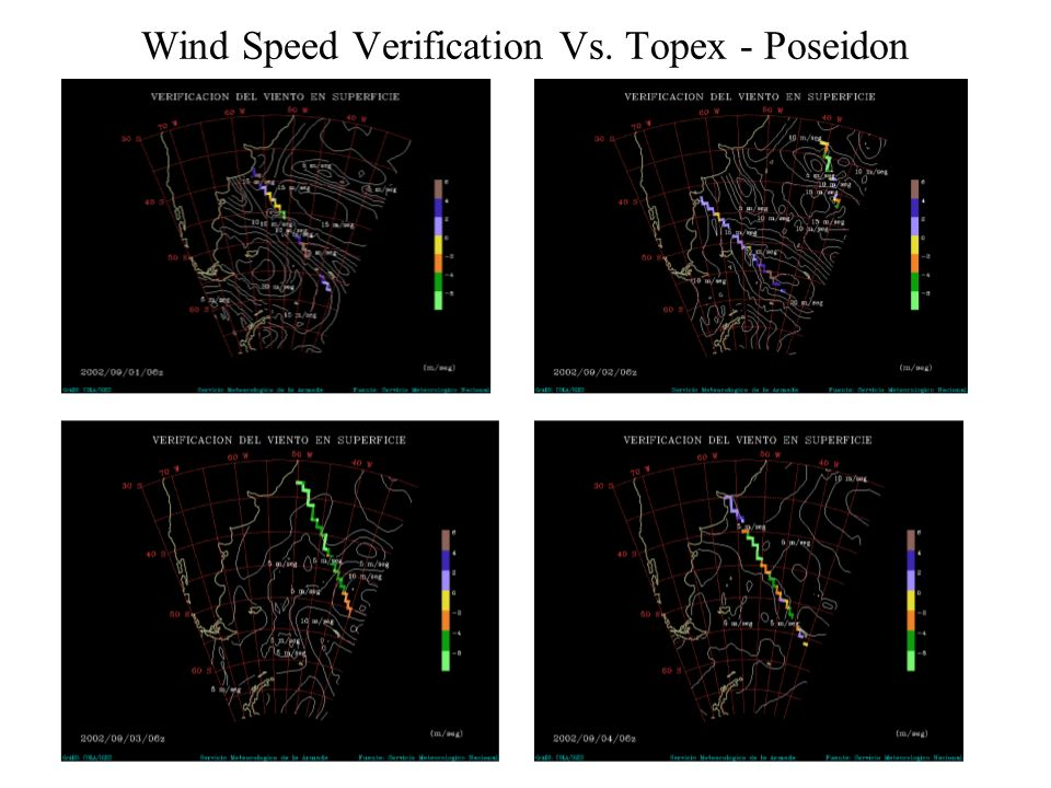 Wind Speed Verification Vs. Topex - Poseidon