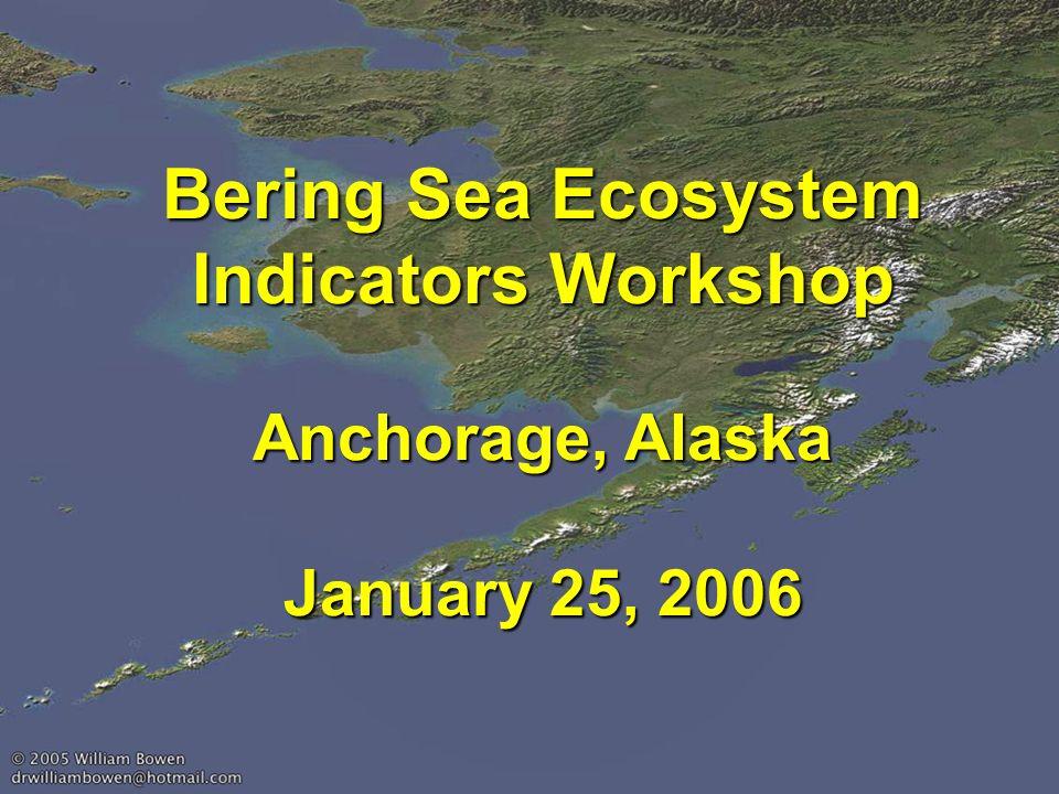 Bering Sea Ecosystem Indicators Workshop Anchorage, Alaska January 25, 2006