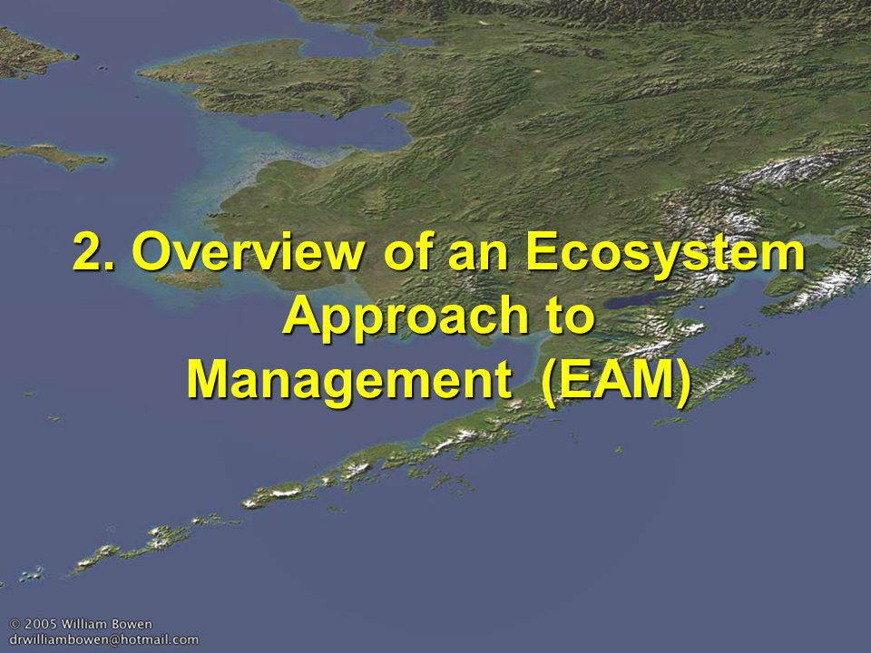 2. Overview of an Ecosystem Approach to Management (EAM)