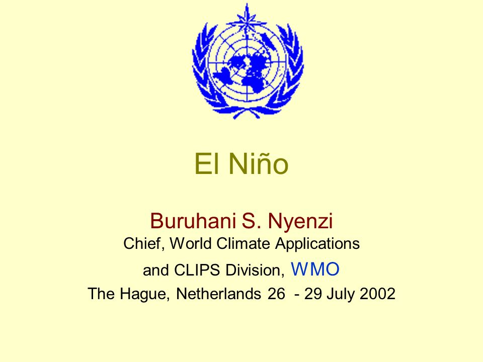 El Niño of 97/98 A major international Conference to assess the scientific aspects of the event and also to make a preliminary assessment of the social and economic effects was convened in Guayaquil, Ecuador in November 1998.