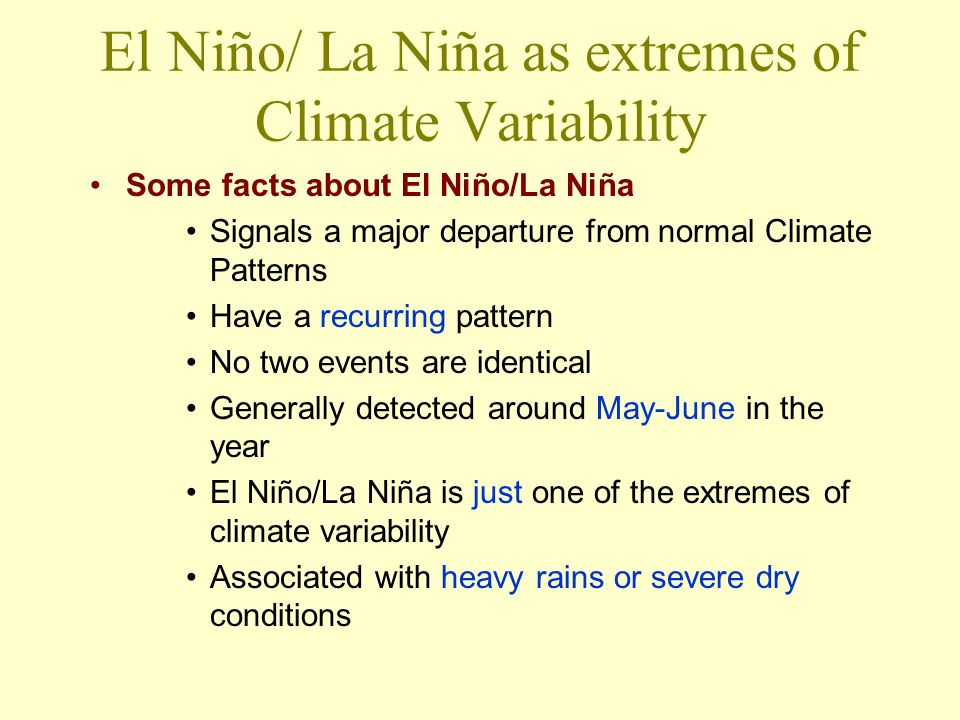 Spin-off from this El Nino A proposal to develop an El Niño Research Centre in Guayaquil has been taken up by the Government of Ecuador in collaboration between WMO and the IDNDR ( currently ISDR).