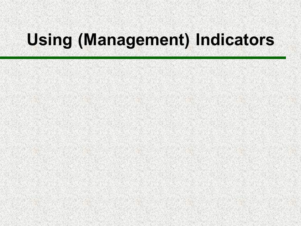 Using (Management) Indicators