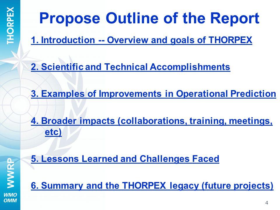 WWRP 1.Introduction – Beland with input from Burridge, Thorpe, Shapiro et al.