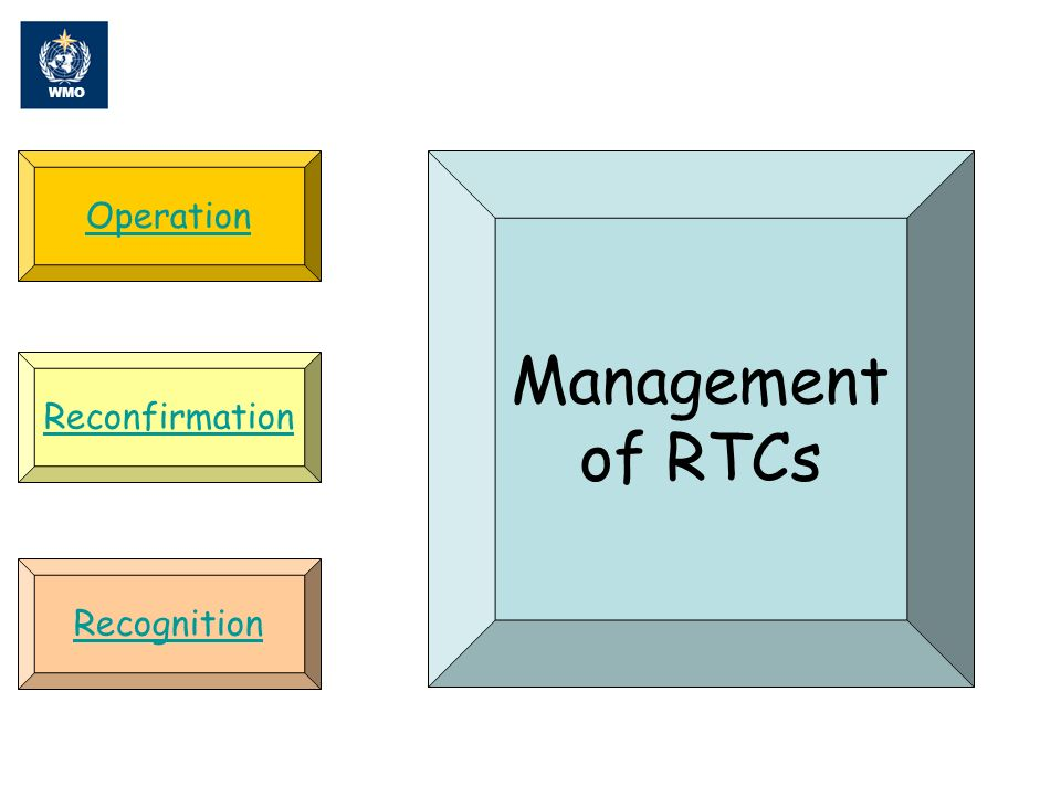 Summary RTCs play and will continue to play a very important role in education and training for WMO Members Many of the RTCs are active, nationally if not Regionally Designating or reconfirming an RTC comes at a cost to the available training budget, the RAs are encouraged to carefully balance the number of RTCs vs the return on the investment
