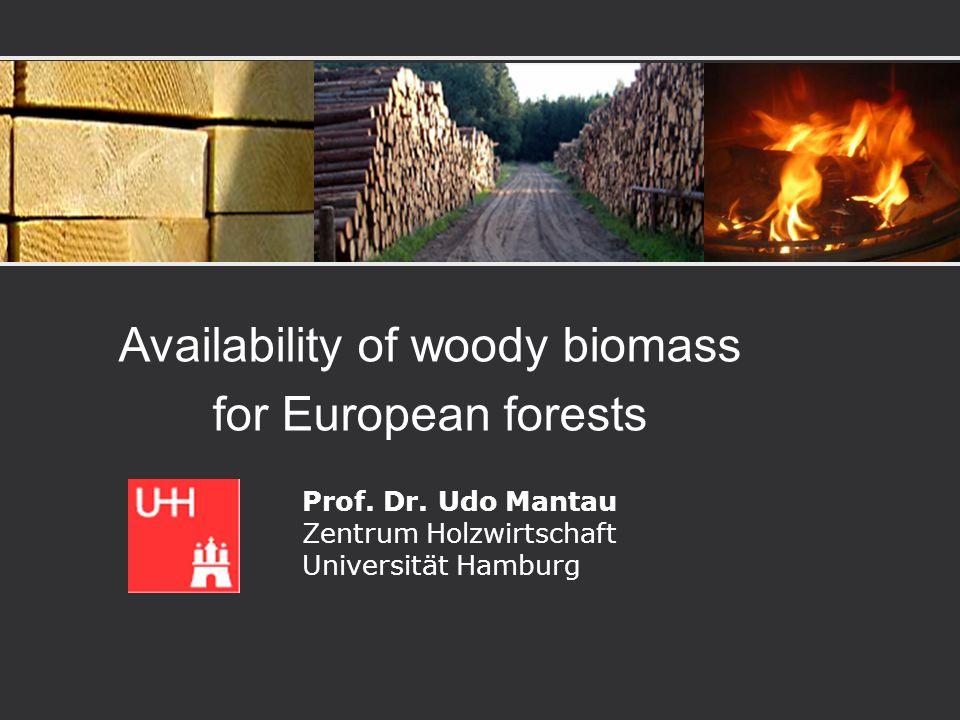 Availability of woody biomass for European forests Prof. Dr. Udo Mantau Zentrum Holzwirtschaft Universität Hamburg