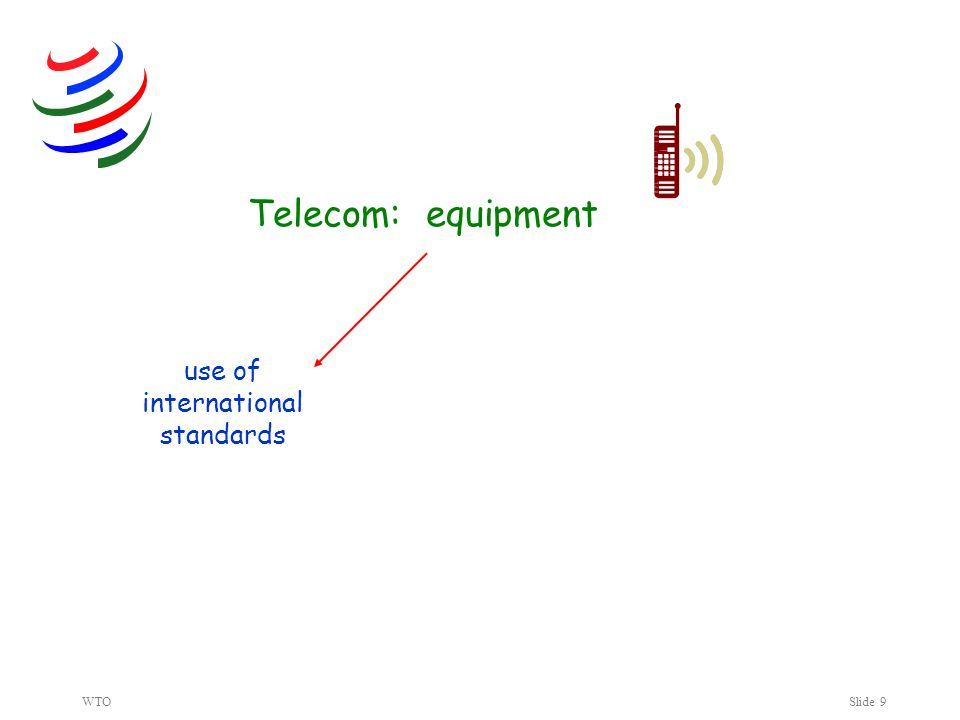 WTOSlide 9 Telecom: equipment use of international standards