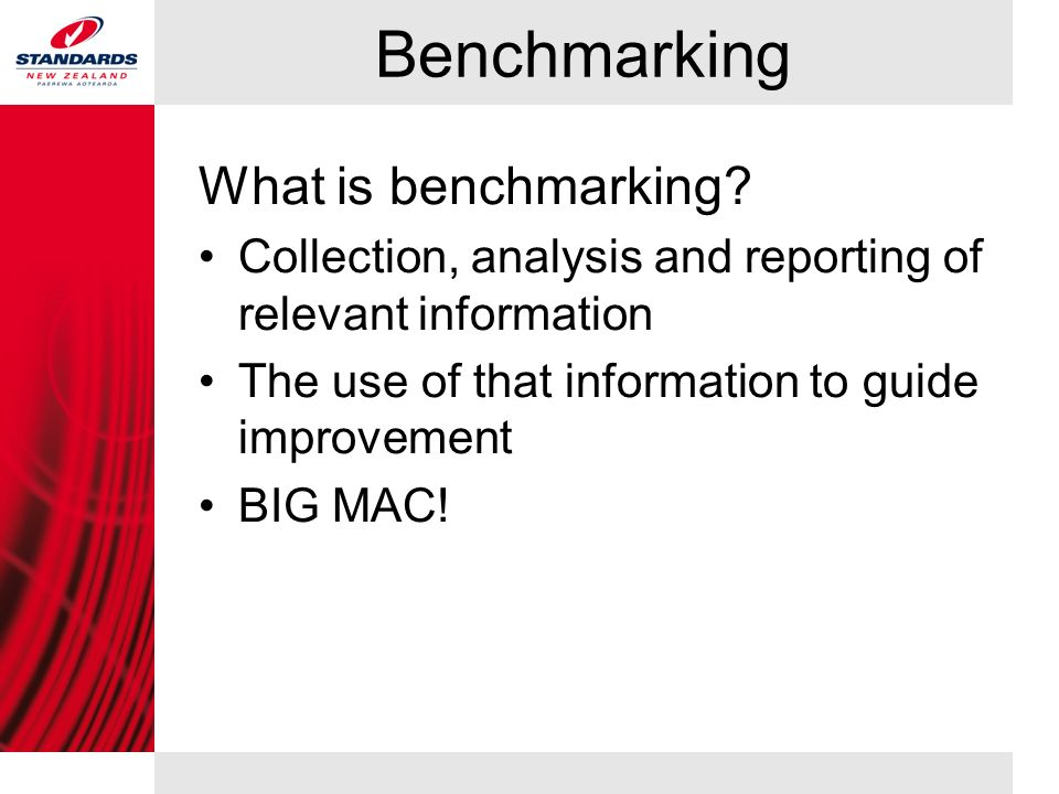 Benchmarking What is benchmarking.