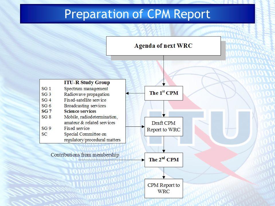 Preparation of CPM Report