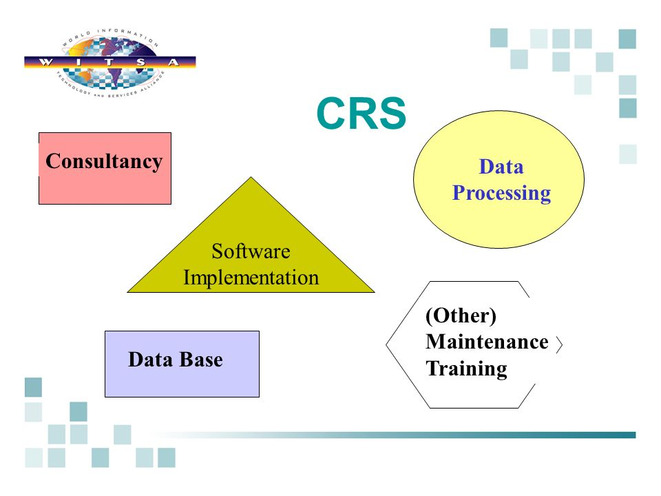 CRS Consultancy Data Processing Software Implementation (Other) Maintenance Training Data Base