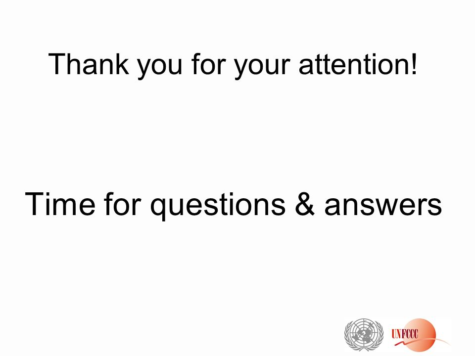 Thank you for your attention! Time for questions & answers