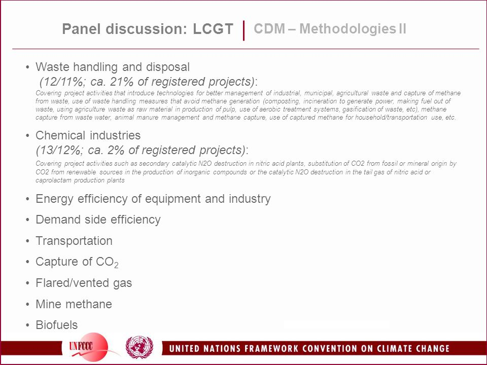 Panel discussion: LCGT CDM – Methodologies II Waste handling and disposal (12/11%; ca.