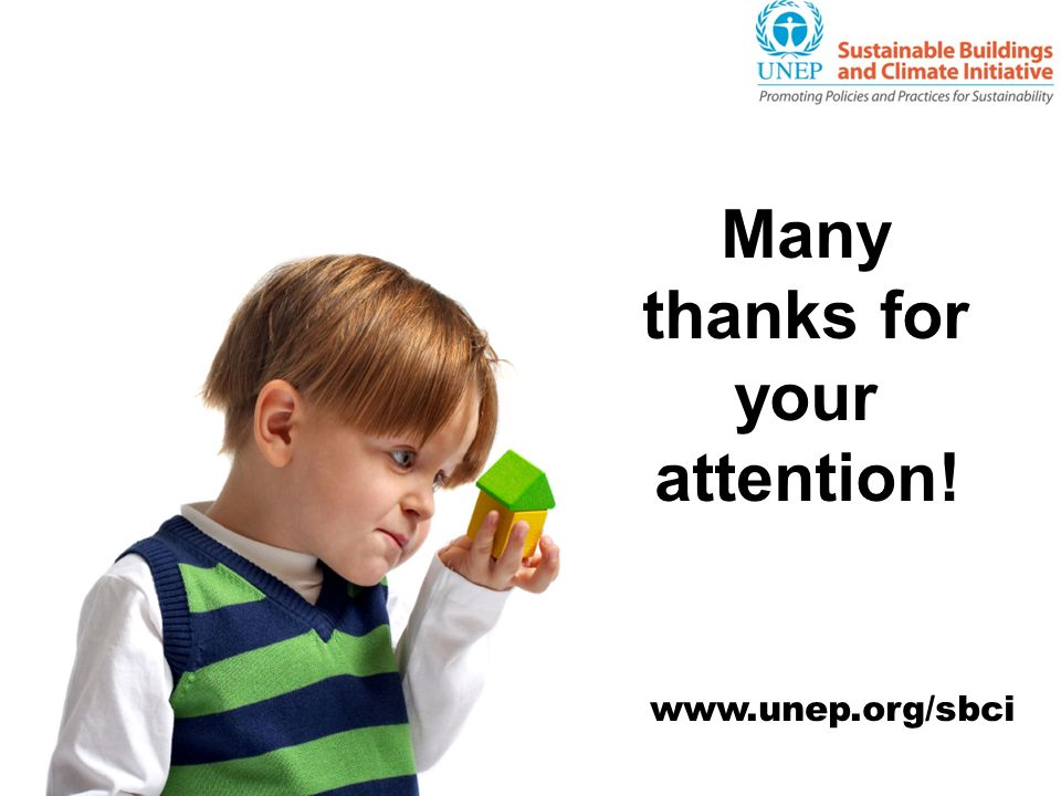 Many thanks for your attention! www.unep.org/sbci