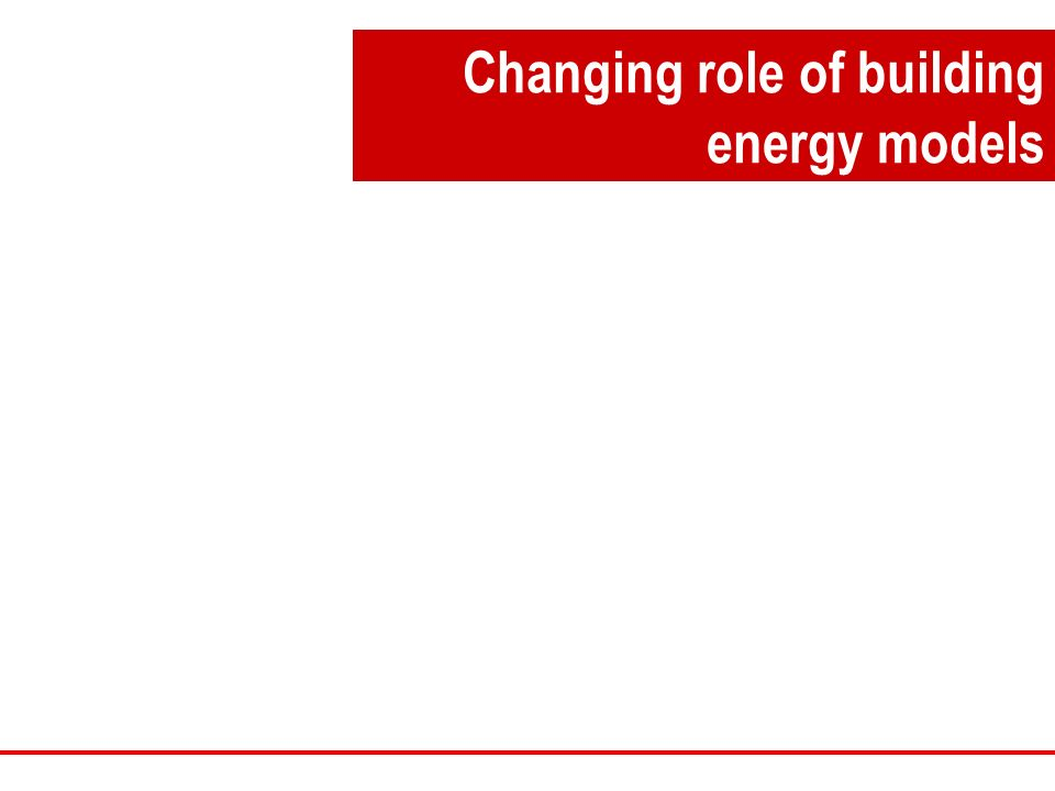 Changing role of building energy models
