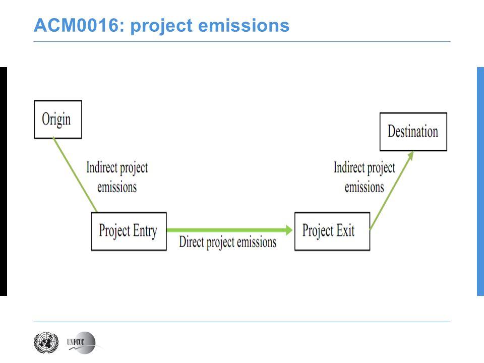 ACM0016: project emissions