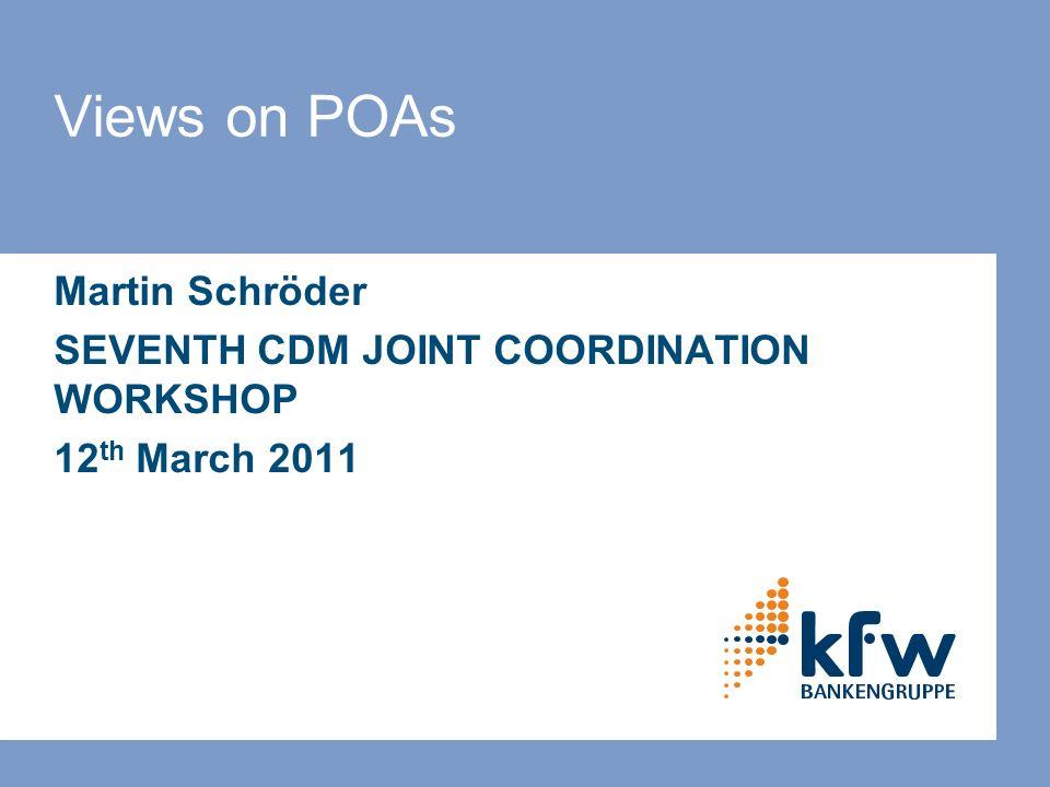 2 KfW Carbon Programmes & POA facility © KfW KfW Carbon Fund Carbon Programmes 1.