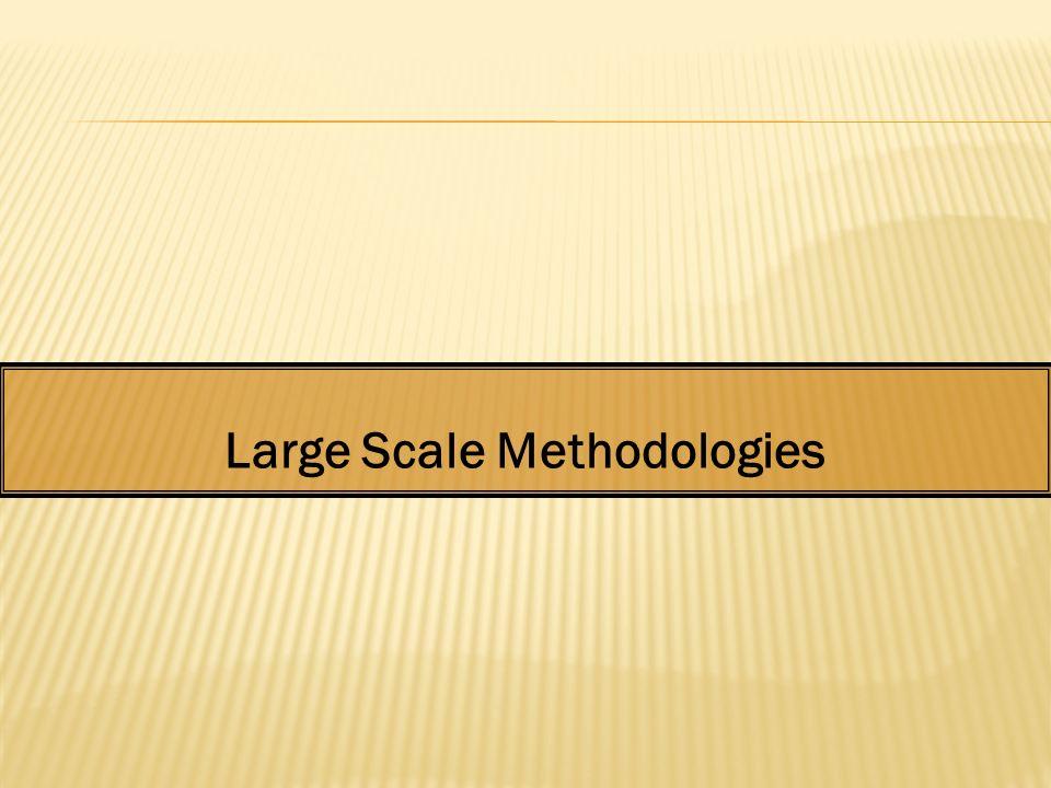Large Scale Methodologies