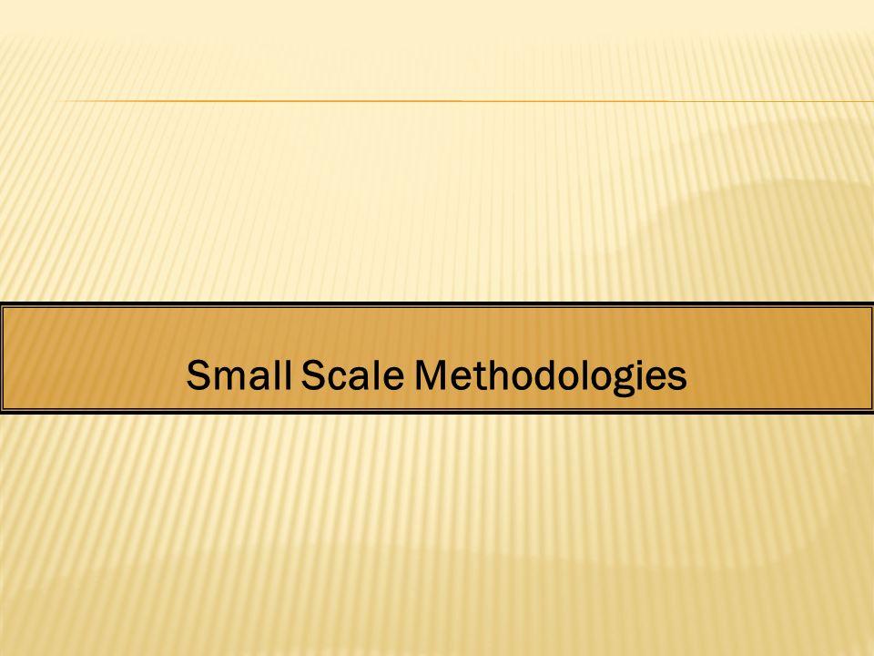 Small Scale Methodologies