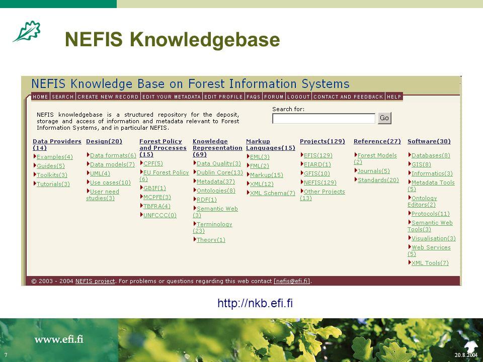 20.8.20047 NEFIS Knowledgebase http://nkb.efi.fi
