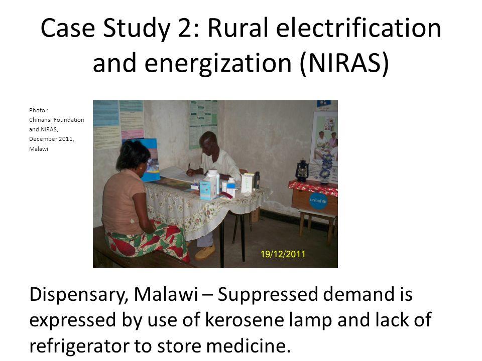 Case Study 2: Rural electrification and energization (NIRAS) Photo : Chinansi Foundation and NIRAS, December 2011, Malawi Dispensary, Malawi – Suppres