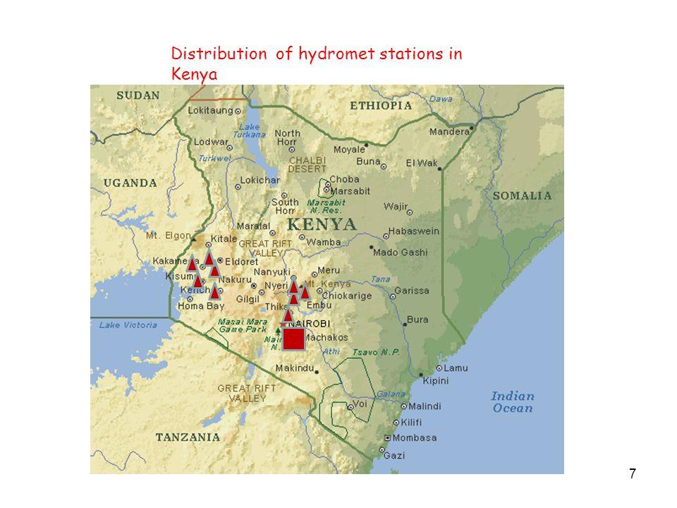 7 Distribution of hydromet stations in Kenya