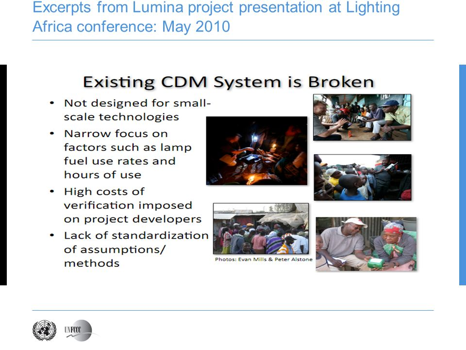 Excerpts from Lumina project presentation at Lighting Africa conference: May 2010