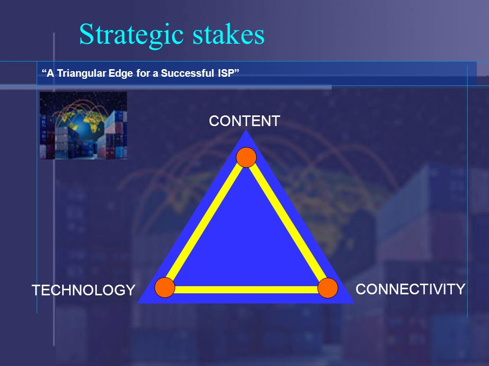 Strategic stakes A Triangular Edge for a Successful ISP CONTENT CONNECTIVITY TECHNOLOGY