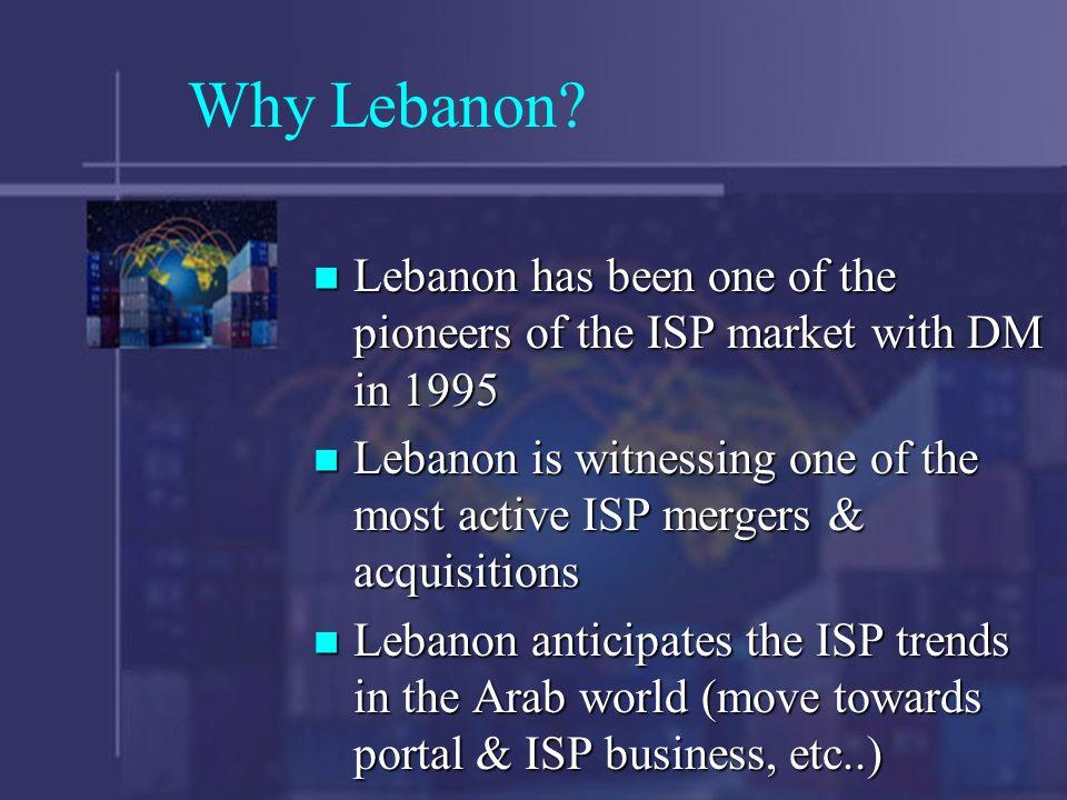 Why Lebanon.